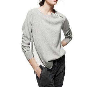 J.Crew Merino Wool Asymmetrical Zipper Sweater